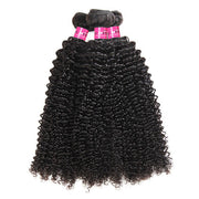 100% Brazilian Curly Hair 3 Bundles 10A Grade Virgin Human Hair Weave One More