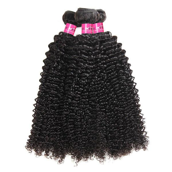 Virgin Peruvian Curly Hair 3 Bundles 10A Grade Human Hair Weave - OneMoreHair