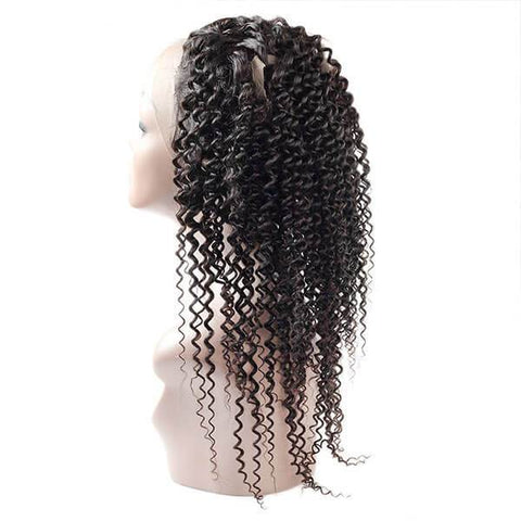 Virgin Brazilian Curly Hair 360 Lace Frontal 1 Piece - OneMoreHair
