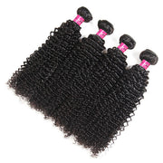 Virgin Brazilian Curly Hair 4 Bundles with 13*4 Lace Frontal Closure One More