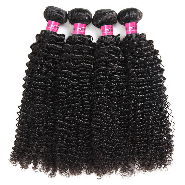 Peruvian Curly Hair 4 Bundles with 13*4 Lace Frontal Closure Natural Color
