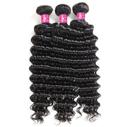 Virgin Brazilian Deep Wave Hair 3 Bundles 10A Garde One More Hair