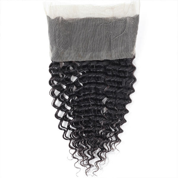 Virgin Brazilian Deep Wave Hair 360 Lace Frontal 1 Piece