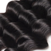 One More Loose Deep Wave Hair 3 Bundles with 4*4 Lace Closure