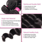 Loose Deep Wave Hair 1 Bundle Unprocessed 10A Grade Virgin Human Hair Weave - OneMoreHair