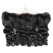 Virgin Peruvian Loose Wave Hair 4 Bundles with 13*4 Lace Frontal