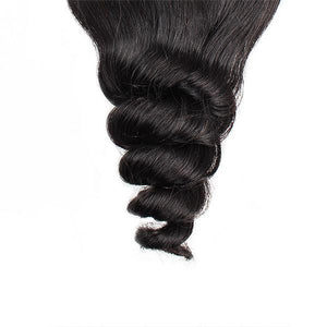 Loose Wave Human Hair 4*4 Lace Closure 1 Piece 10A Brazilian Hair Swiss Lace - OneMoreHair