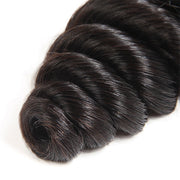 One More Peruvian Loose Wave Hair 3 Bundles with 4*4 Lace Closure
