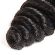 Malaysian Loose Wave Human Hair 4 Bundles with 4*4 Lace Closure - OneMoreHair