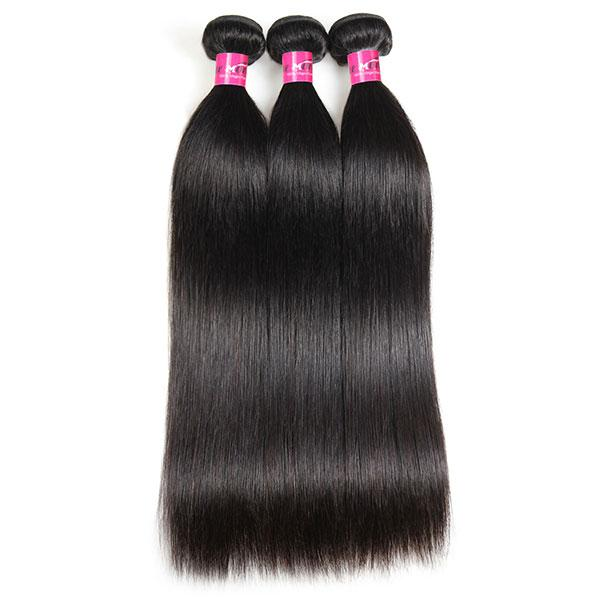 100% Virgin Indian Straight Hair 3 Bundles Human Hair Weave Extensions - OneMoreHair