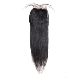 Virgin Brazilian Hair Straight Hair 4*4 Lace Closure 1 Piece - OneMoreHair