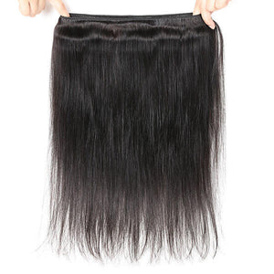 One More Straight Hair 3 Bundles Virgin Peruvian Human Hair Weave - OneMoreHair