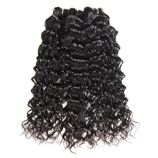 Peruvian Water Wave Hair 3 Bundles with 4*4 Lace Closure - OneMoreHair