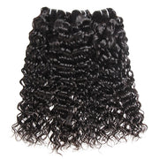 Peruvian Water Wave Hair 10A Virgin Hair 3 Bundles with 13*4 Lace Frontal - OneMoreHair