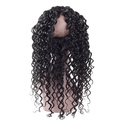 Virgin Brazilian Water Wave Hair 360 Lace Frontal 1 Piece