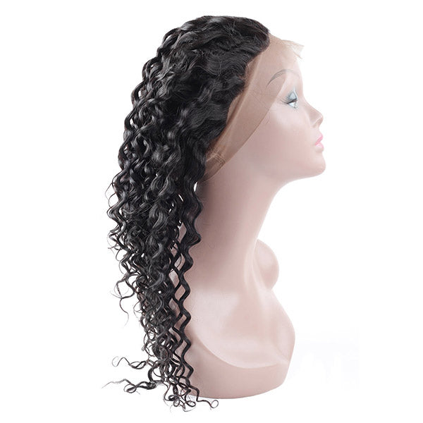 Virgin Brazilian Water Wave Hair 360 Lace Frontal 1 Piece - OneMoreHair