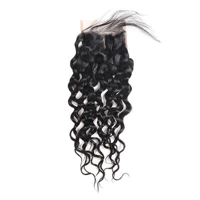 Virgin Brazilian Hair Water Wave Hair 4*4 Lace Closure 1 Piece - OneMoreHair
