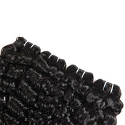 Brazilian Water Wave Hair 4 Bundles with 13*4 Lace Frontal Closure - OneMoreHair