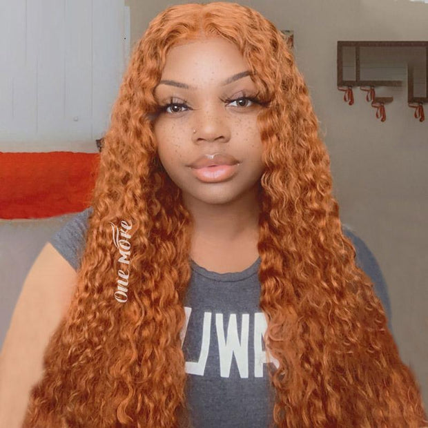 Ombre Wigs Ginger Color 13x4 Lace Front Human Hair Wigs - OneMoreHair