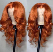 body wave orange wig