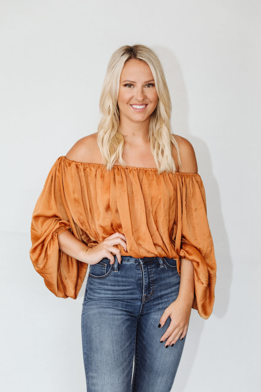Cold Shoulder Babe Blouse