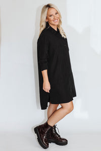 Collar Babe Button Down Dress