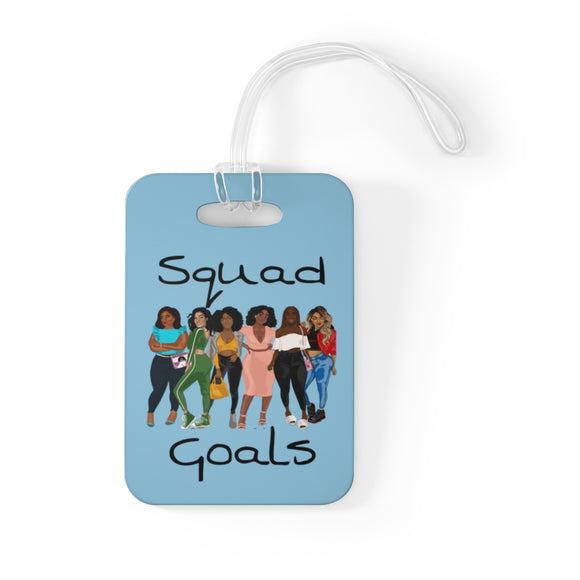 Squad Goals Baby Blue Bag Tag