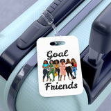 Goal Friends Bag Tag (White)