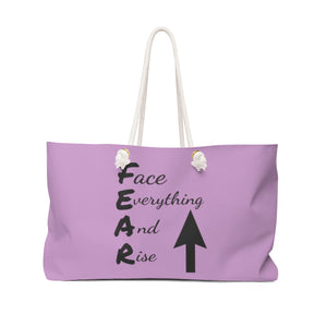 Above Fear Weekender Bag (Lavender)