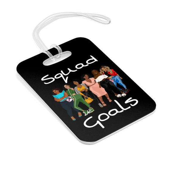 Squad Goals Bag Tag (White)
