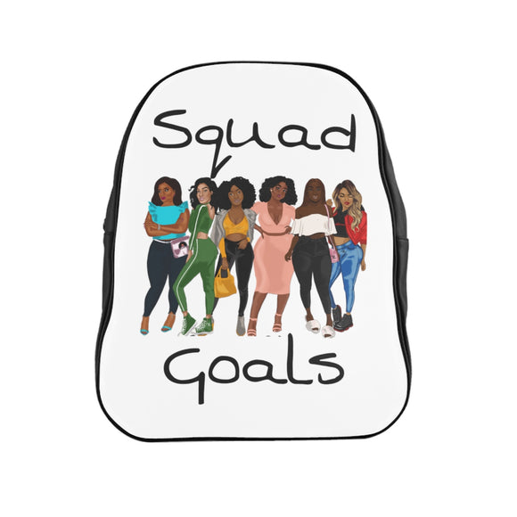 Squad Goals  Backpack (White)