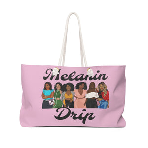 Melanin Drip Weekender Bag (Cotton Candy)