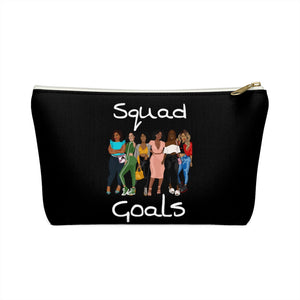 Squad Goals Accessory Pouch w T-bottom (White)