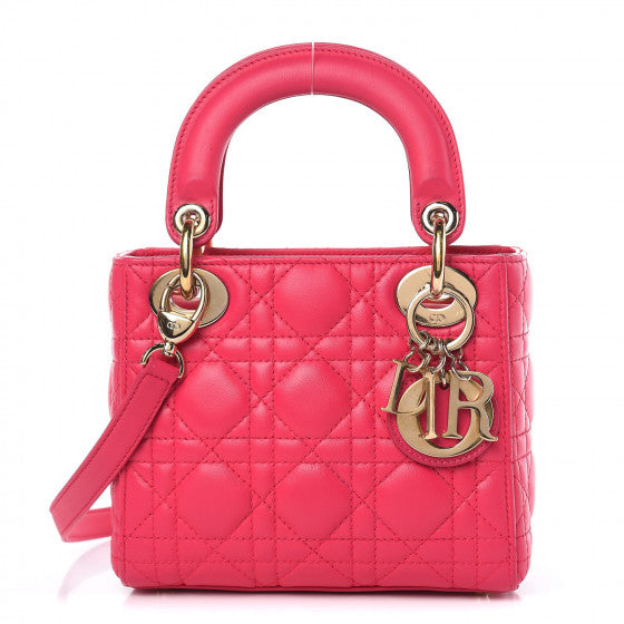 Dior Mini Lady Dior Fuchsia Handbag