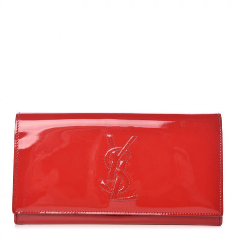 Saint Laurent Patent Belle De Jour Flap Wallet Red