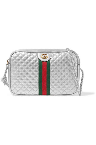 Gucci Metallic quilted leather shoulder bag