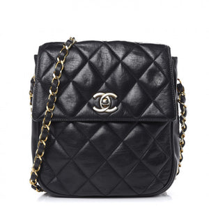 CHANEL Lambskin Quilted Small Flap Black