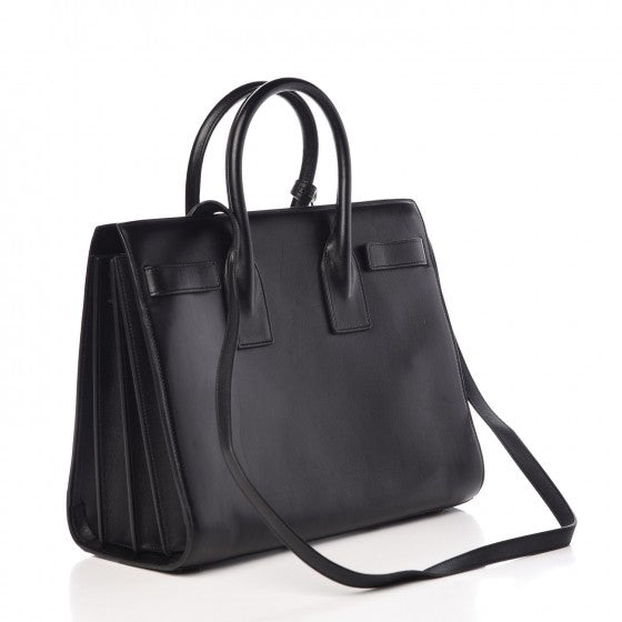 SAINT LAURENT Calfskin Small Sac De Jour Black