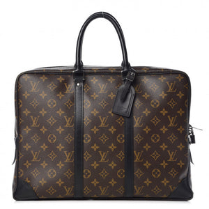 louis vuitton monogram macassar porte documents voyage soft briefcase bag