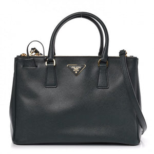 PRADA Saffiano Medium Galleria Double Zip Tote Smeraldo