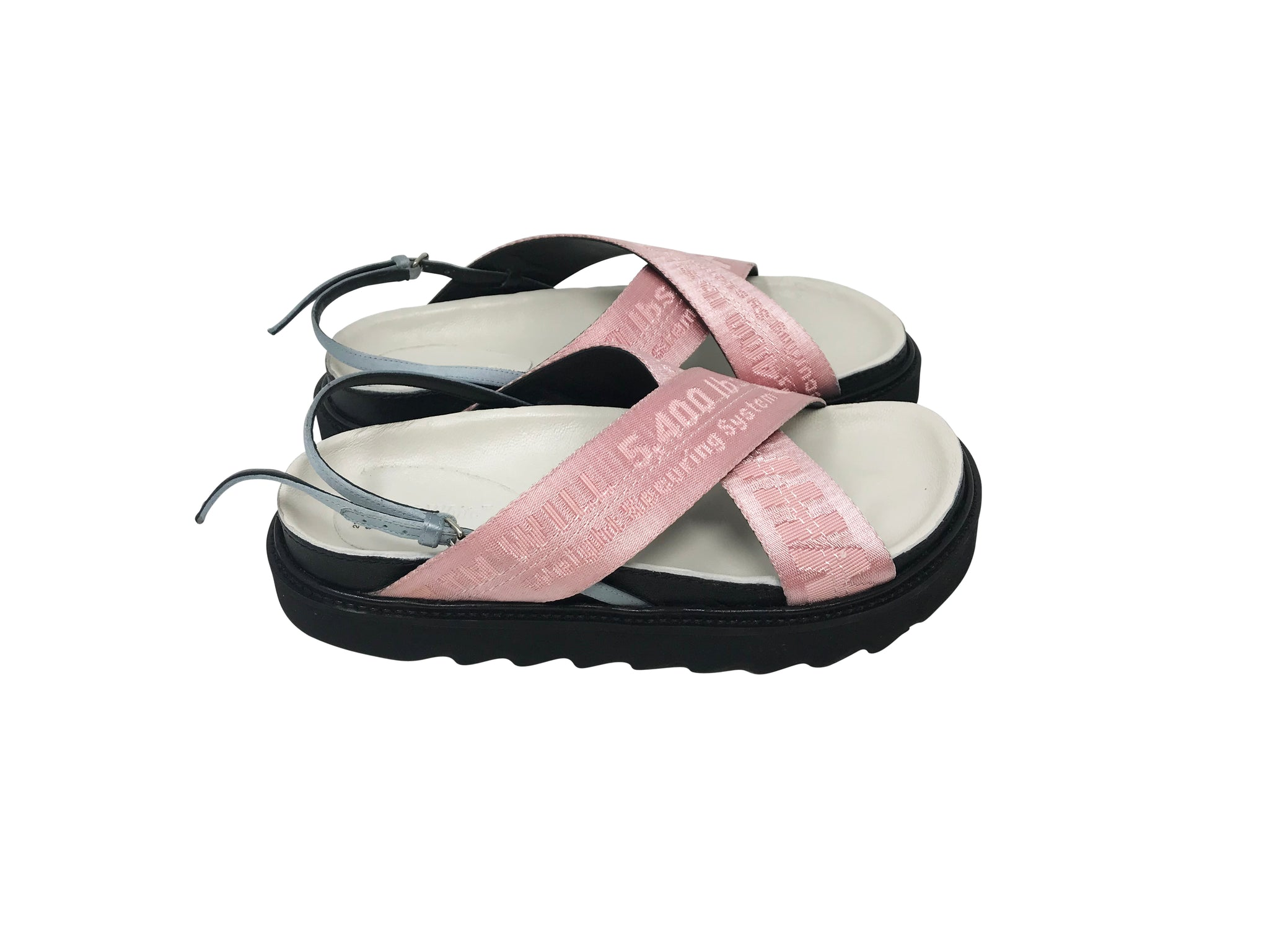 Off white sandals size 35