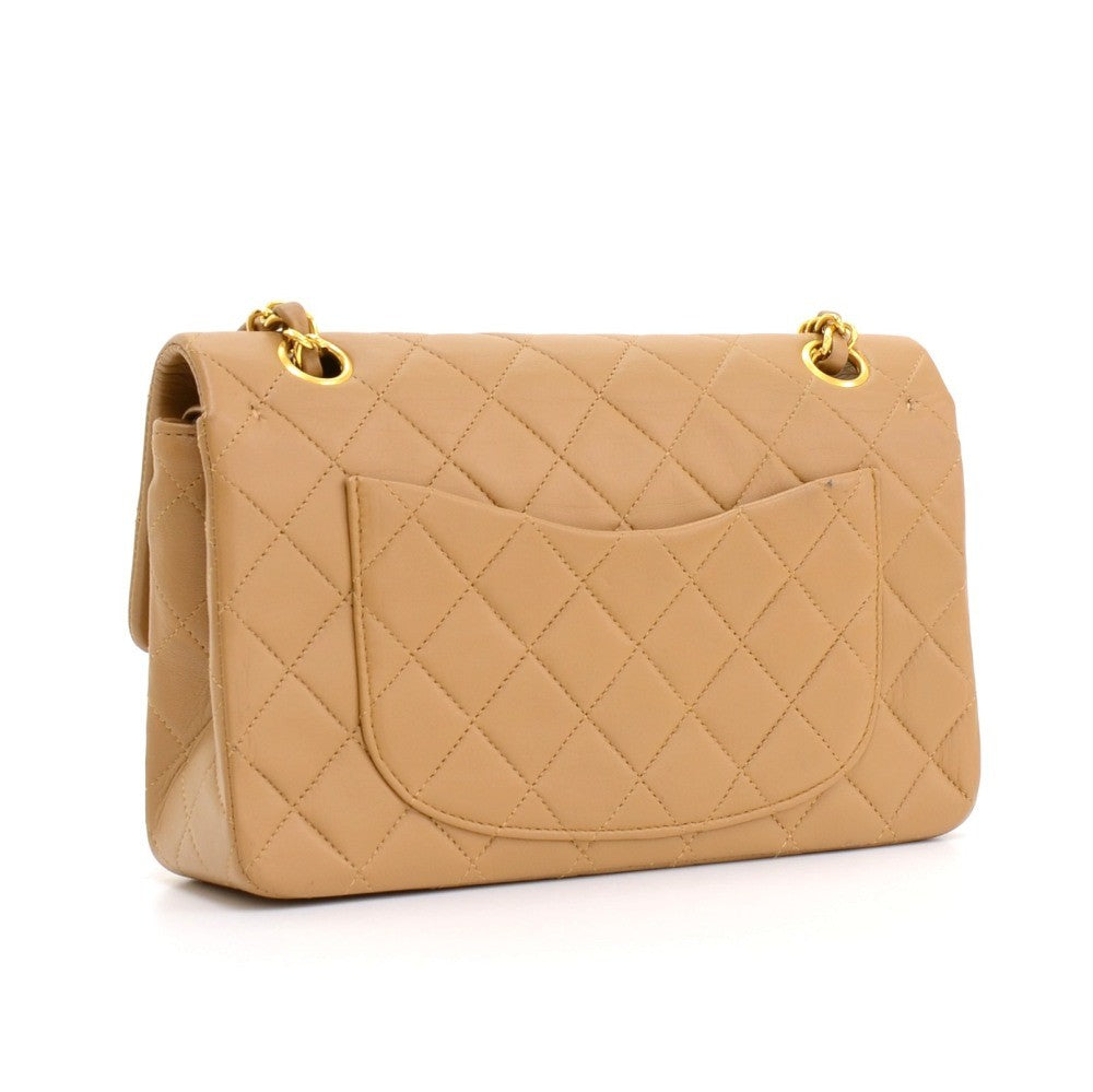 4d54bc8798f6 Chanel Caramel Beige Small Lambskin Double Flap Bag GHW – Sacdelux