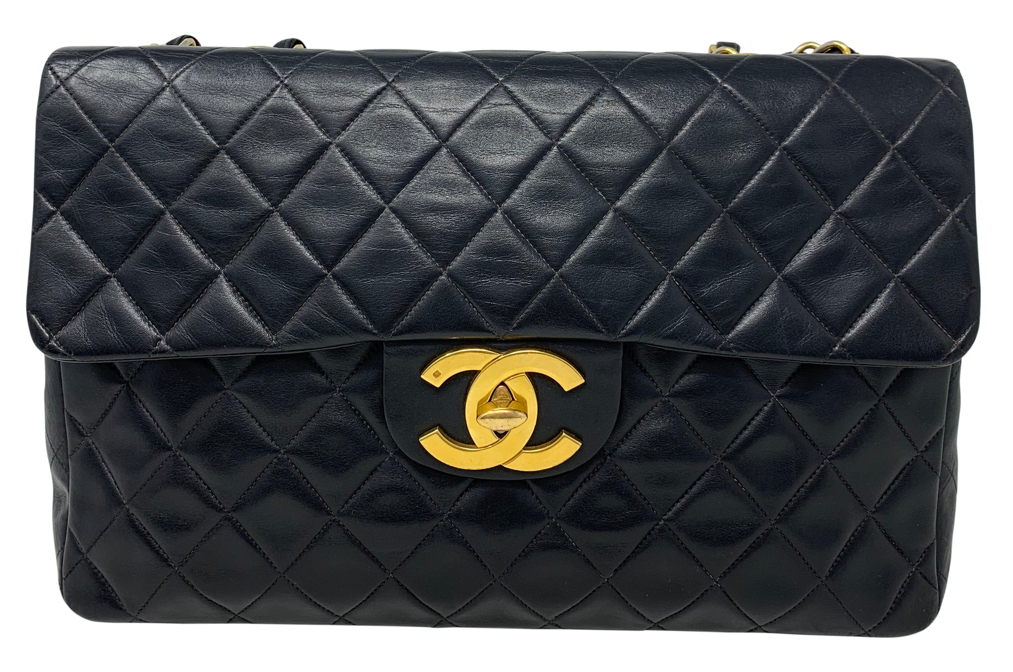 Chanel Lambskin vintage Maxi Single flap