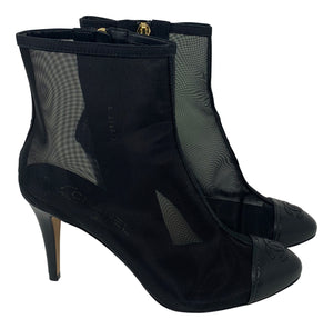 Chanel Mesh Ankle boot pumps size 38.5