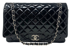 Chanel Patent Maxi Double Flap Red