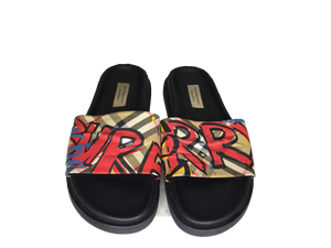 Burberry Graffiti Slides