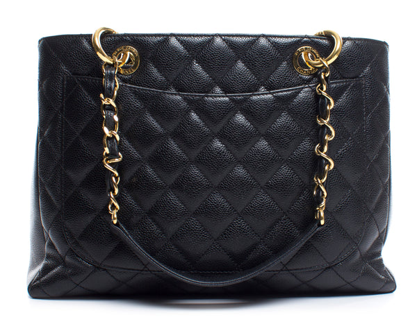 Chanel Medium GST Black Caviar GHW