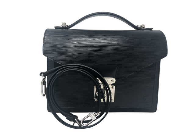 Louis Vuitton Monceau Black Epi Leather Handbag
