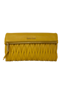 Mui Mui leather clutch with removable shoulder strap handbag