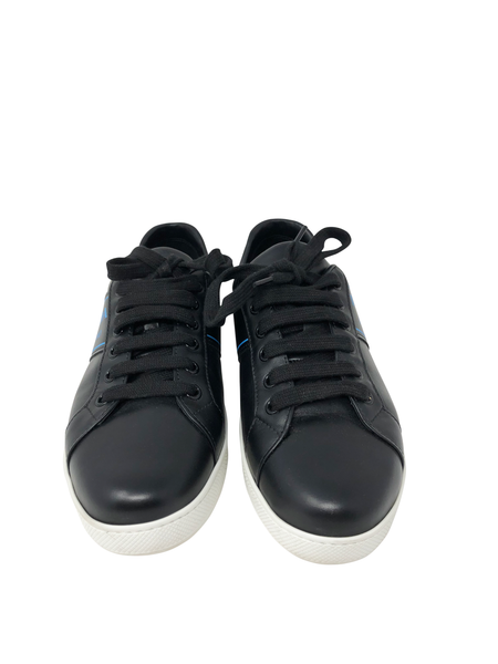 Prada Sneakers with Blue Logo